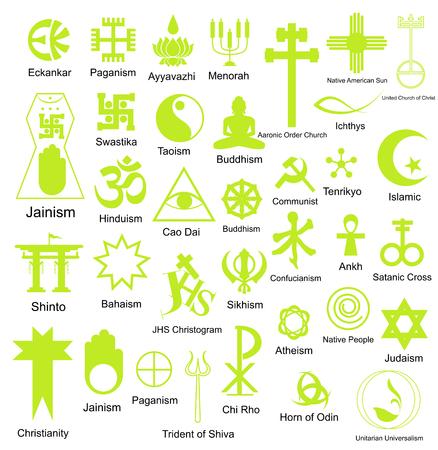 Collection de symboles religieux Formes