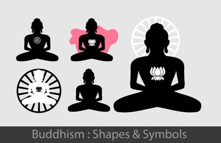 Buddhism - Buddha Silhouettes