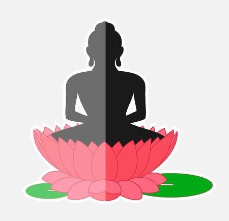 Buddha Sitting Over the Lotus