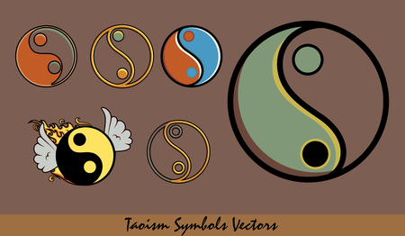 taoism: Set of Taoism Symbols Designs