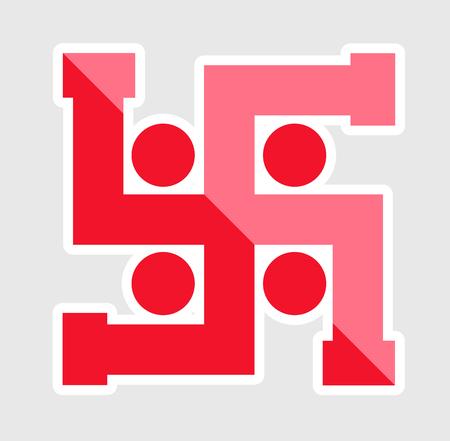 Swastika Symbol Sticker Illustration