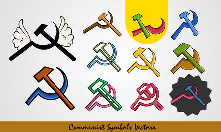 communism: Set of Communist Symbols