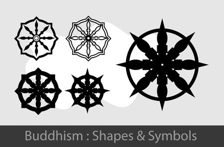 wheel of dharma: Buddhism Symbols