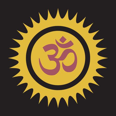 sanskrit: Spiritual Om Symbol