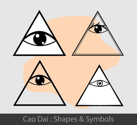 dai: Cao Dai Symbols Illustration