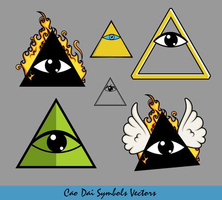 illuminati: All-Seeing Eye of God Vector Symbols Illustration
