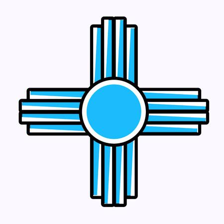 Símbolo de Zia Ilustración de vector