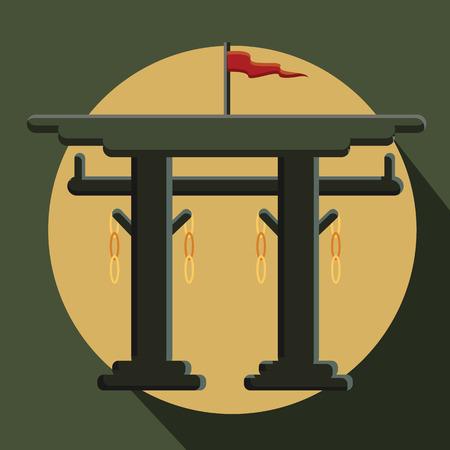 popular belief: Vintage Torii Gate Vector