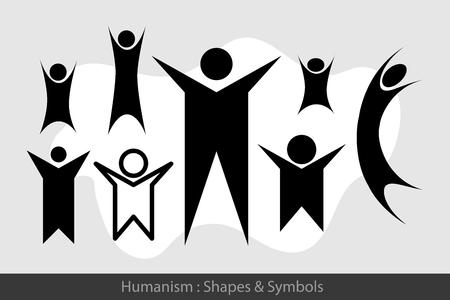 humanism: Humanism Symbols Illustration