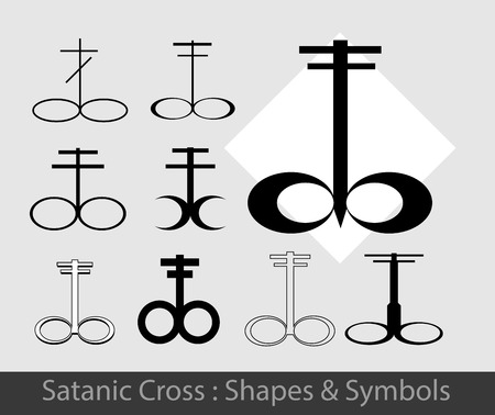 satanic: Satanic Symbols Illustration