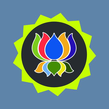 jainism: Colorful Ayyavazhi Symbol Illustration