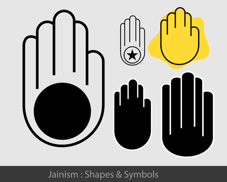 ahimsa: Religious Jainism Symbol Illustration