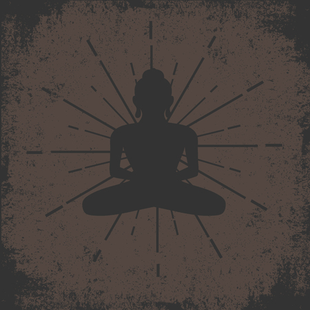 Buddhist Grunge Vintage Background
