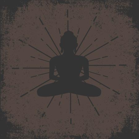 yog: Buddhist Grunge Vintage Background