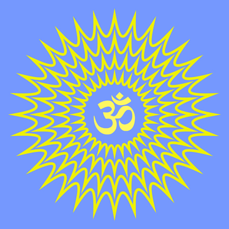 aum: Glowing Aum Symbol Background