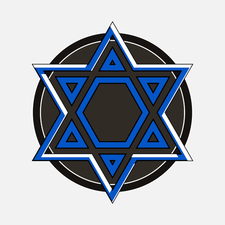 shield of david: Astrological Star Vector
