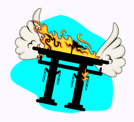 popular belief: Burning Torii Gate Flying with Wings