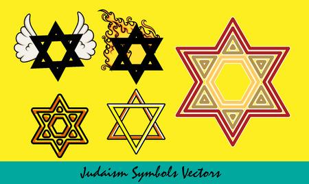 jewish star: Jewish Star Symbols Vector