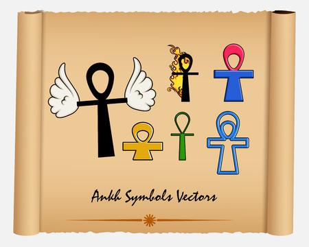 ankh cross: Variety of Ankh Symbols