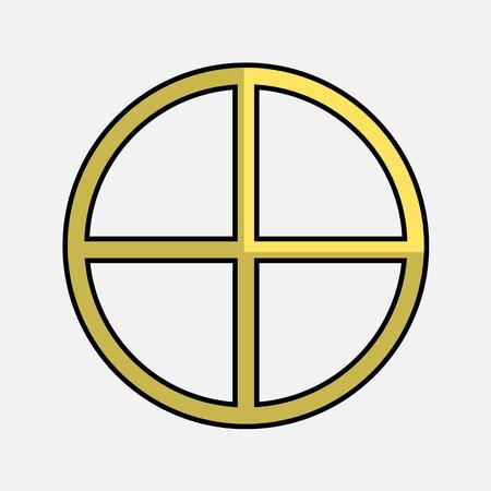 neopaganism: Neo-Paganism Symbol Vector Shape