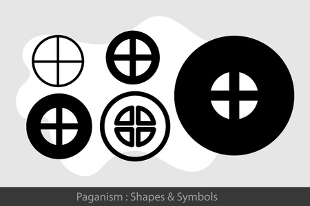 paganism: Paganism Symbols Illustration