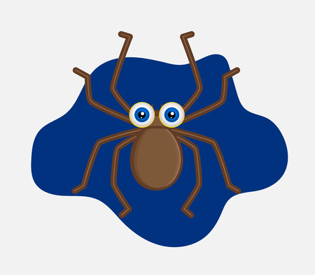 Funny Halloween Spider Illustration