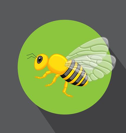 crawling creature: Hornet Vector