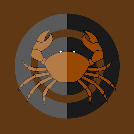 crab legs: Wild Crab Vector