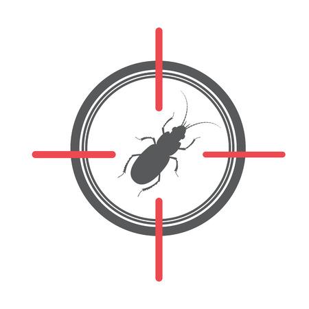 Termite on Target Illustration