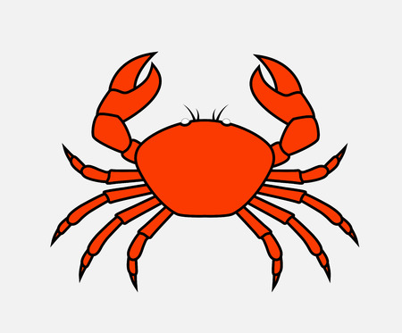 crab legs: Retro Crab Vector Illustration