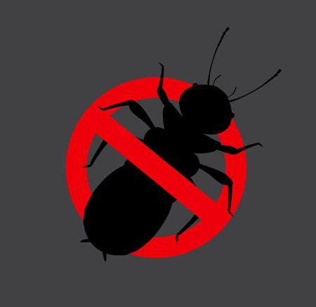 prohibido: Señal de termitas Prohibida insectos Vectores