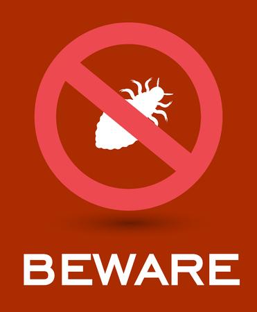 piojos: Cuidado con los piojos Insectos Símbolo
