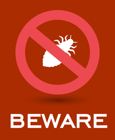 Beware of Lice Insects Symbol