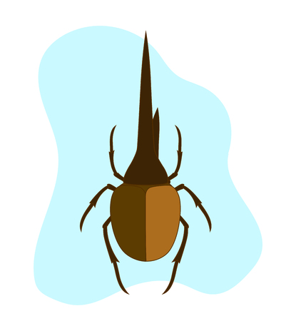 crawly: Hercules Beetle Insect Illustration
