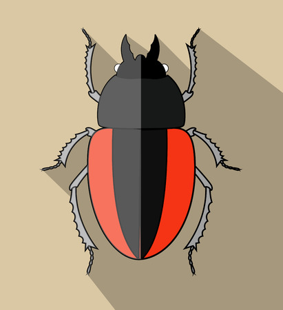 scarab: Creepy Scarab Beetle Illustration