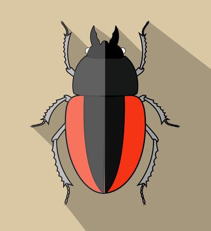 creepy: Creepy Scarab Beetle Illustration
