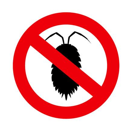 piojos: Señal Prohibido piojo de insectos