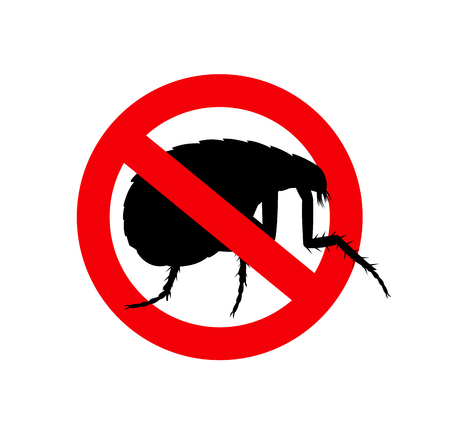 plague: Tick Insects Forbidden Symbol Illustration