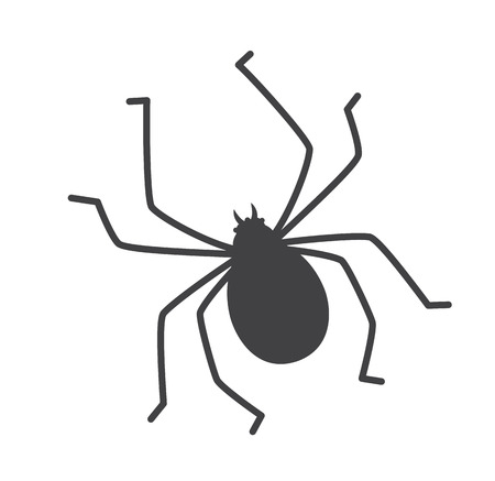 crawly: Tick Insect Silhouette Illustration
