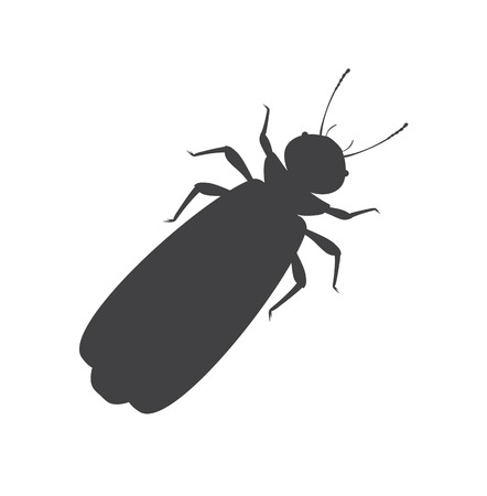 Winged Termite Silhouette