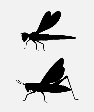 mantid: Grasshopper and Dragonfly Silhouettes