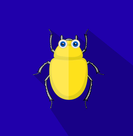 Funny Comic Beetle Insect Illustration