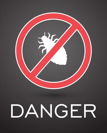 piojos: Los insectos peligrosos Piojos Vectores