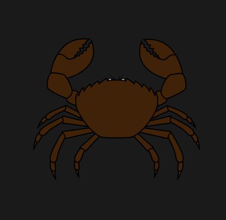 crab legs: Wild Crab Illustration