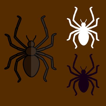 Spider Shapes Illustration