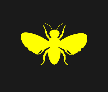 Bee Yellow Silhouette