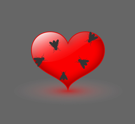 crawling creature: Flies on Heart