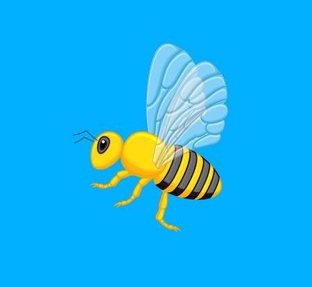 crawling creature: Flying Wasp Vector Illustration