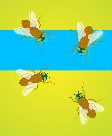 crawling creature: Flies Vector