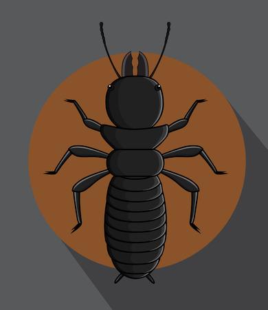 termite: Black Termite Vector
